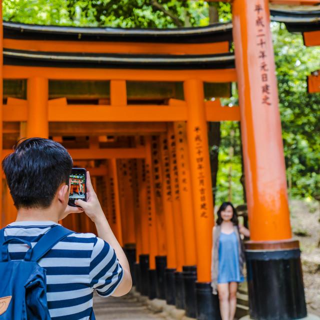"""""""Photo time at Fushimi"""" stock image"""