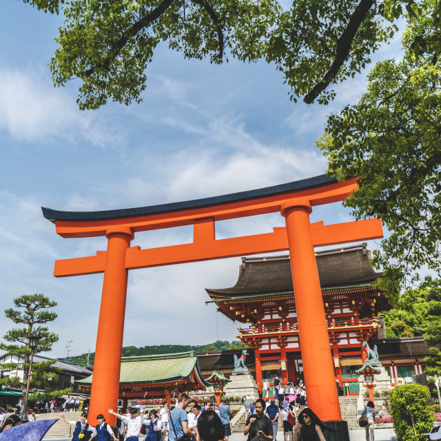 """Entry to Fushimi Inari Shrine"" stock image"