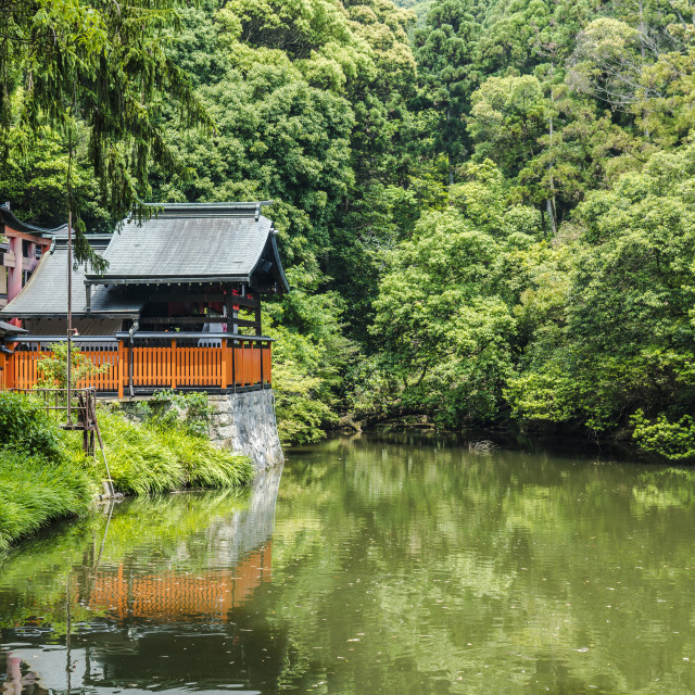 """Fushimi Inari Shrine lake"" stock image"