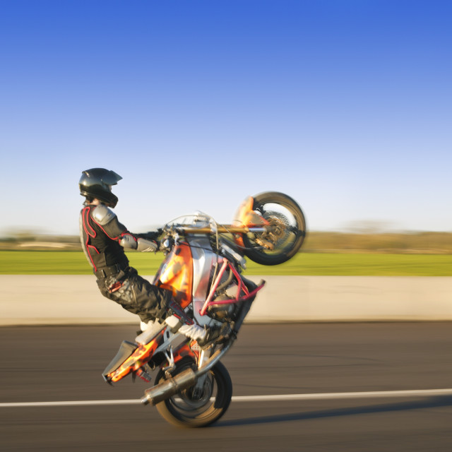 """""""Person Riding A Sport Bike"""" stock image"""