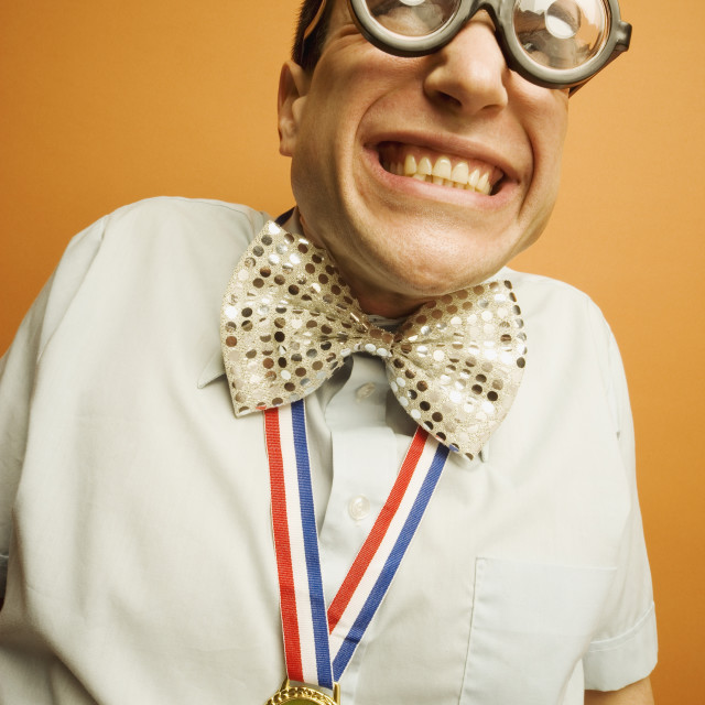 """Man Wearing A Medal"" stock image"