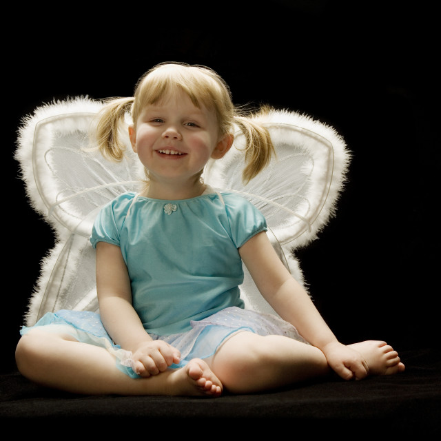 """Little Girl With Wings"" stock image"
