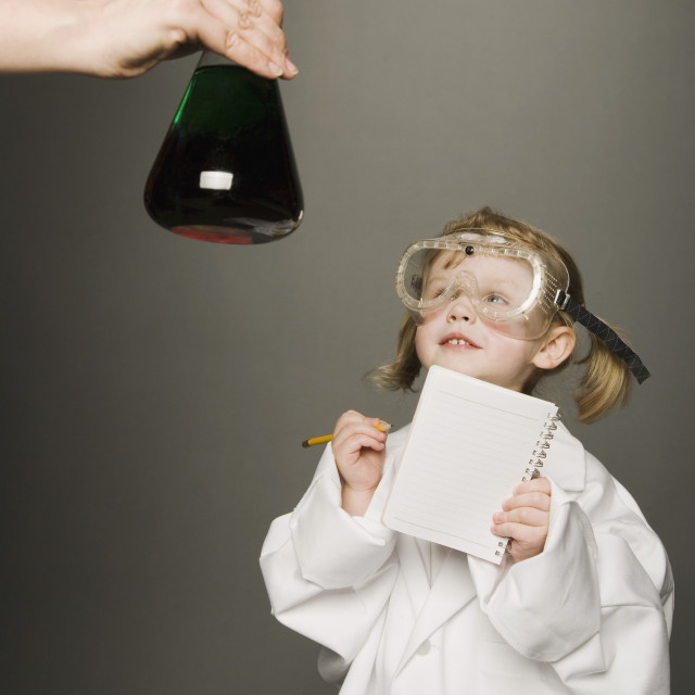 """Little Girl Dressed As A Scientist"" stock image"