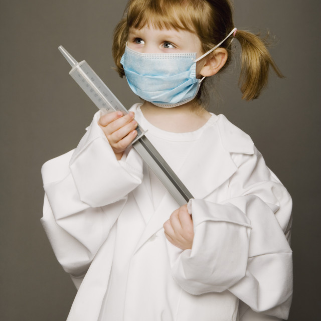 """Little Girl Dressed Like A Doctor"" stock image"