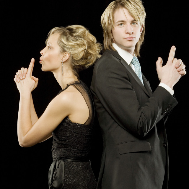 """Young Adults In Formal Wear"" stock image"