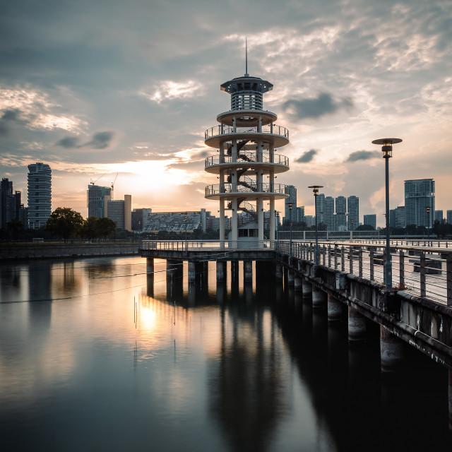"""""""Kallang Cool tone sunset"""" stock image"""