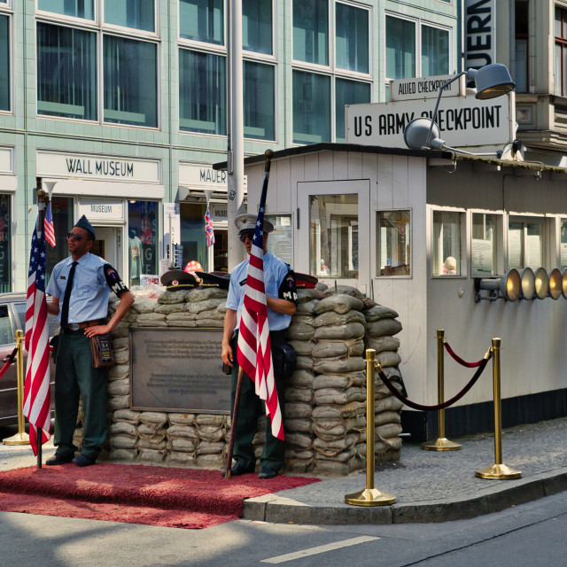 """Checkpoint Charlie"" stock image"