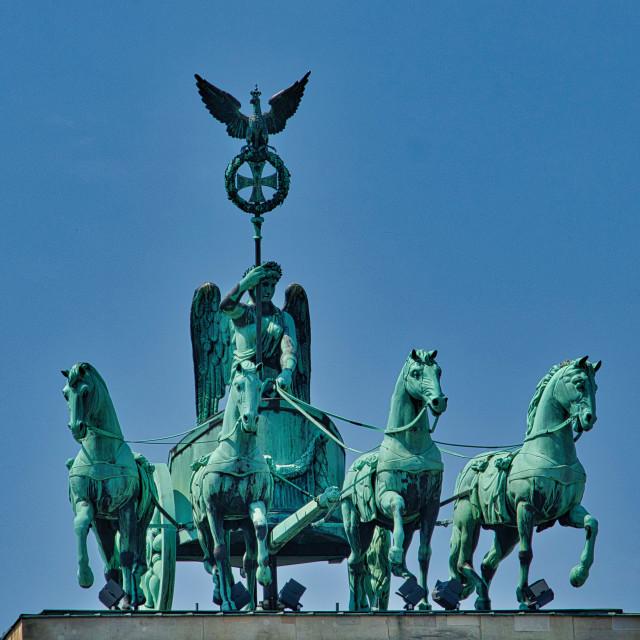 """The Quadriga on Brandenburg Gate"" stock image"