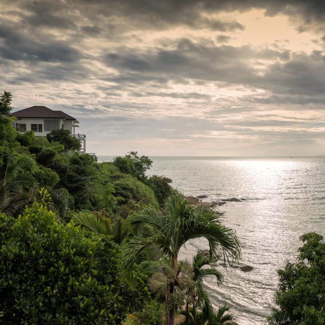 """Luxury house at Pattaya beach"" stock image"