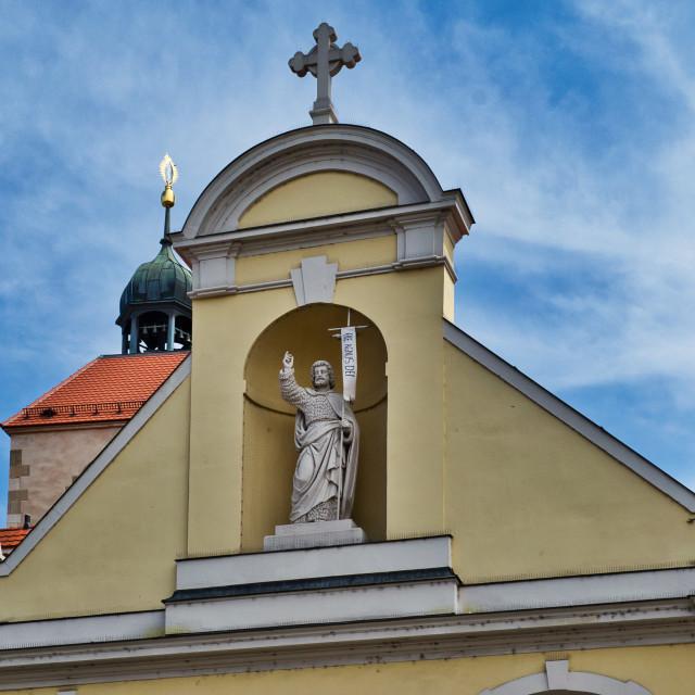 """Stiftskirche St. Johann in Regensburg"" stock image"