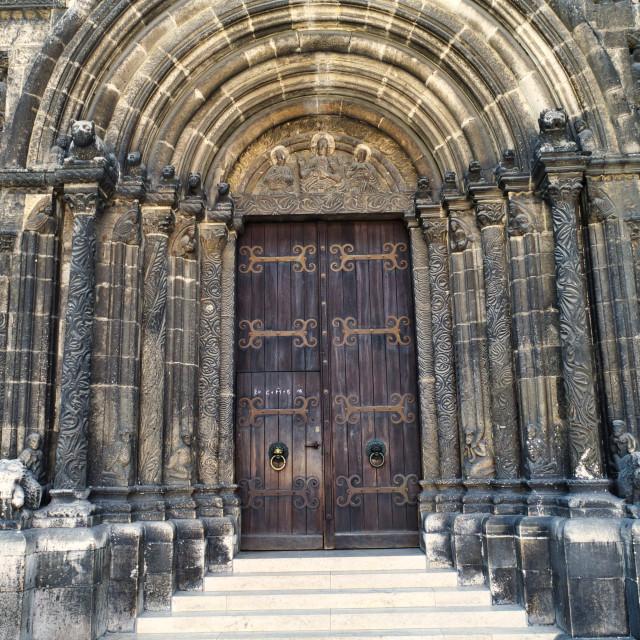 """""""The Schottenportal in Regensburg"""" stock image"""