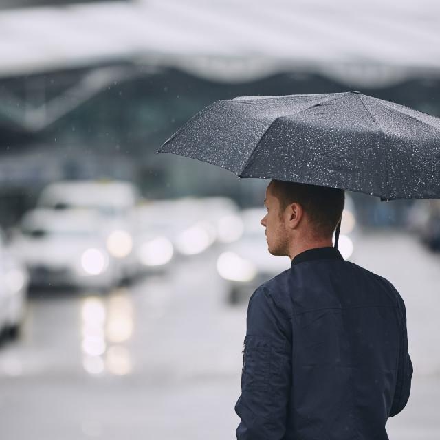 """Rain in city"" stock image"