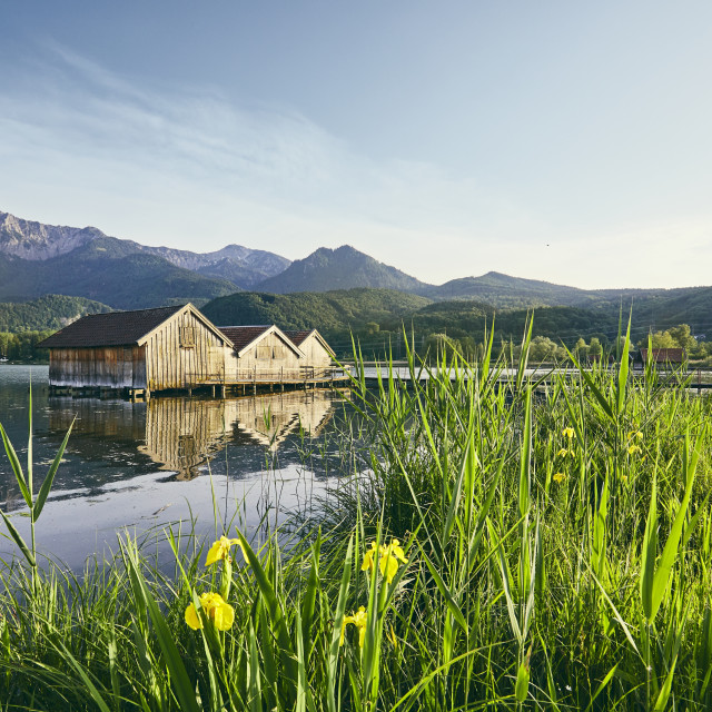 """Lake Kochelsee in Germany"" stock image"