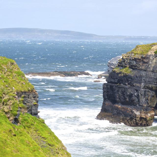 """cliff walk at the virgin rock"" stock image"