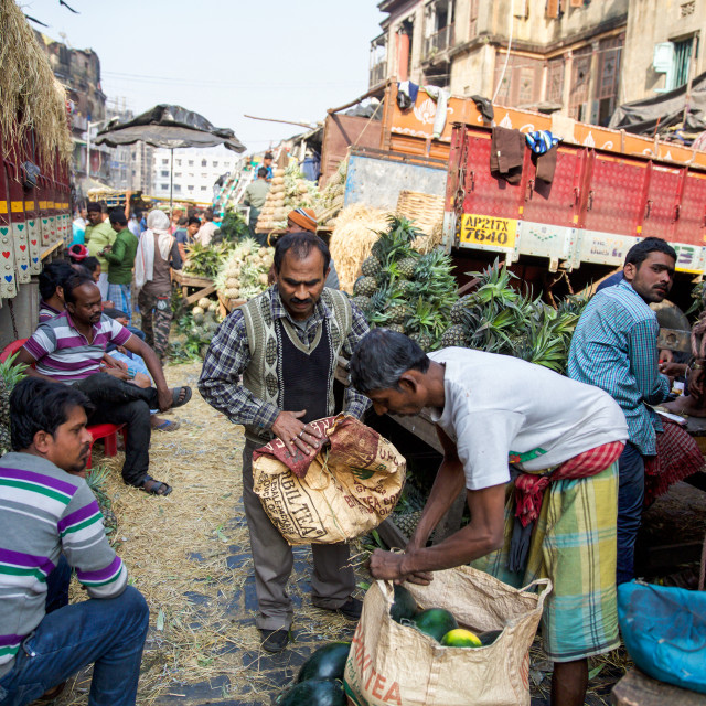"""Street market II"" stock image"