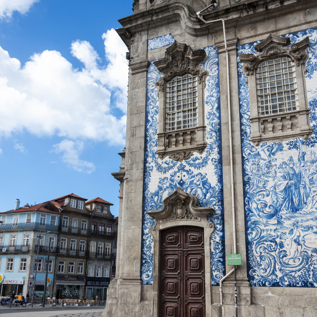 """""""Porto, Portugal - October 10, 2010: Detail of the Carmo Church with beautiful Portuguese tiles in the ciy of Porto, Portugal"""" stock image"""