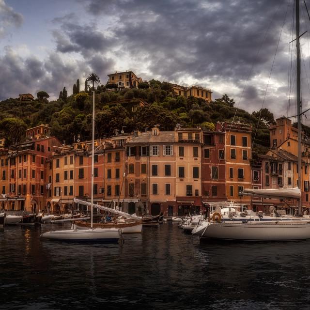 """""""Sunrise in Portofino..."""" stock image"""