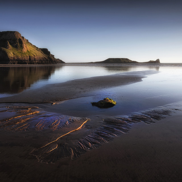 """Worms Head on the Gower peninsula"" stock image"