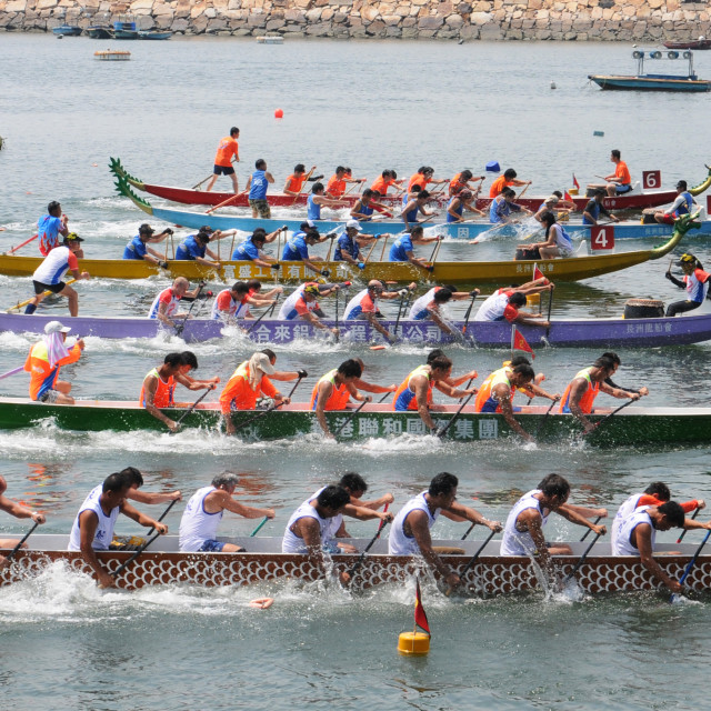 """Dragonboat races, Hong Kong"" stock image"