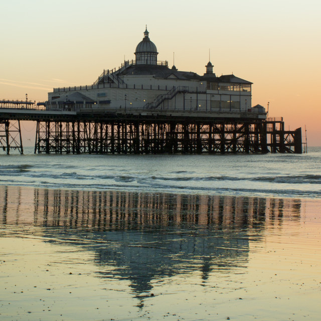 """Eastbourne Pier Summer Sunrise"" stock image"
