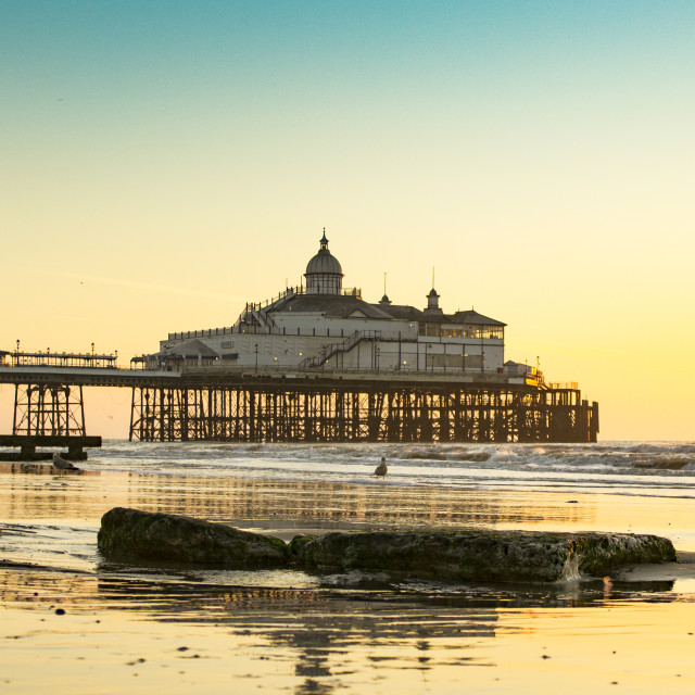 """Eastbourne Pier after Sunrise"" stock image"