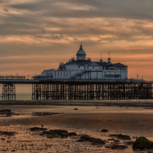 """Eastbourne Pier from the Beach"" stock image"
