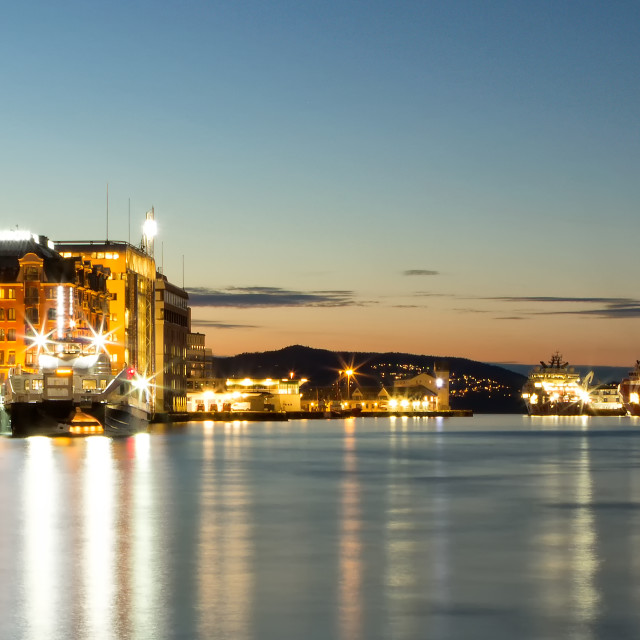 """Bergen Harbour"" stock image"