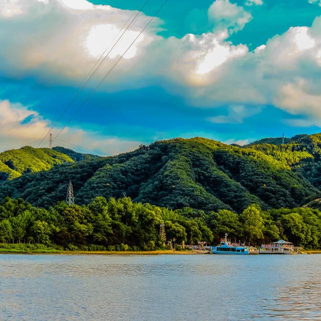 """The Jetty to Nami Island Korea"" stock image"