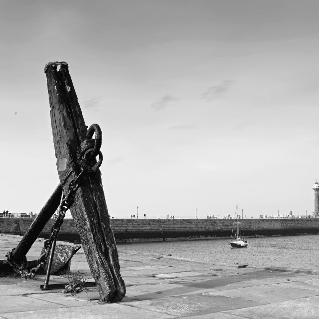 """""""Whitby Harbour"""" stock image"""