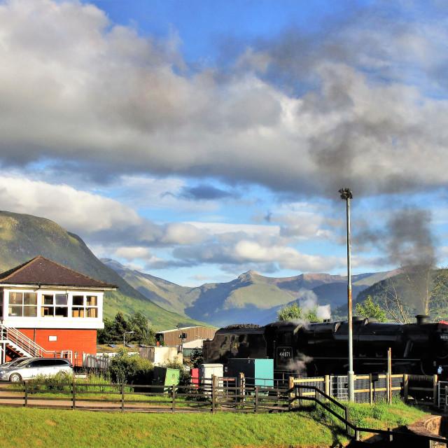 """Jacobite Steam Train"" stock image"