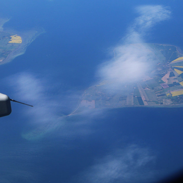 """Aerial view of Danish islands"" stock image"