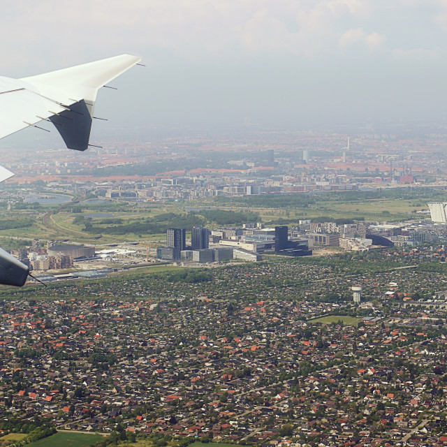 """Take off from Copenhagen international airport"" stock image"