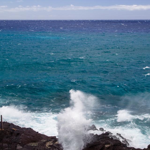 """Halona Blowhole, Oahu"" stock image"