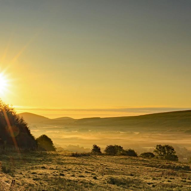 """Early morning sun"" stock image"