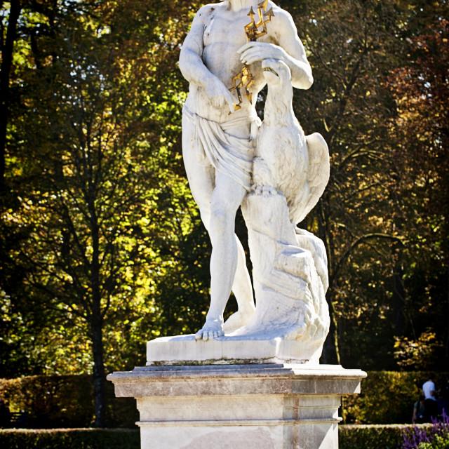 """MUNICH, GERMANY - mythological statue of Greek god Jupiter"" stock image"