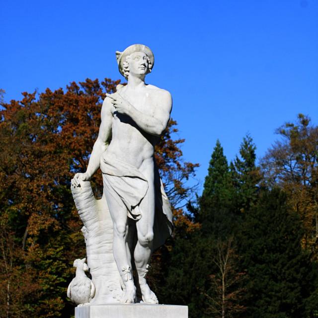 """""""MUNICH, GERMANY - mythological statue of Roman god Mercury"""" stock image"""