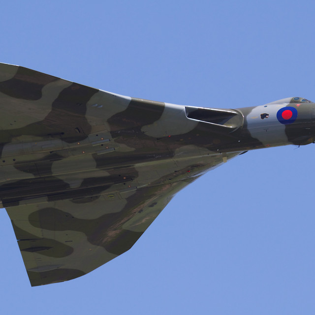 """Vulcan bomber XH558"" stock image"