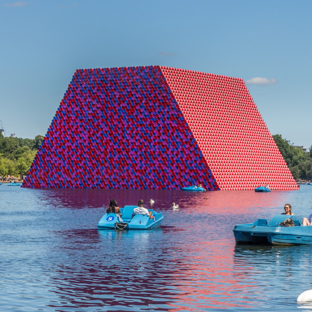 """The London Mastaba, by Christo"" stock image"