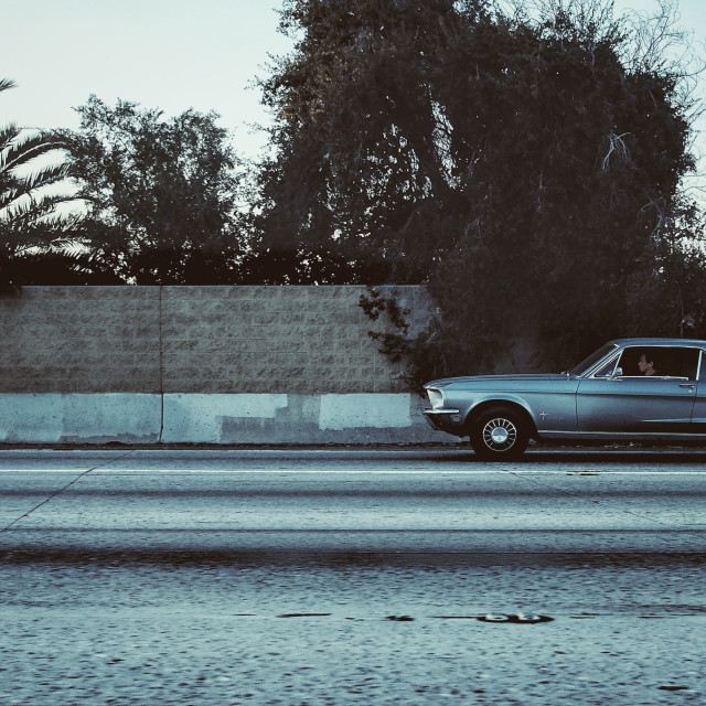 """""""Ford Mustang down there in L.A."""" stock image"""
