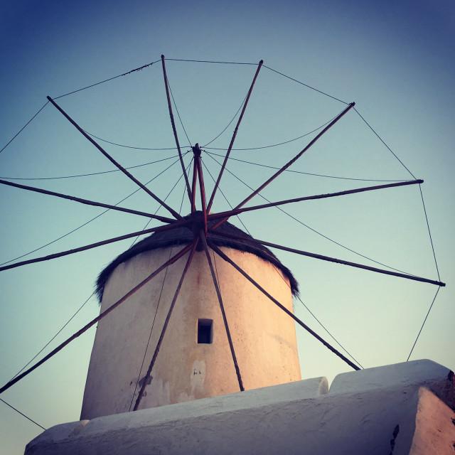 """Mykonos windmill"" stock image"