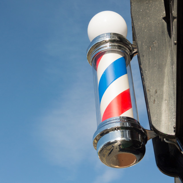 """The Barbershop Pole"" stock image"