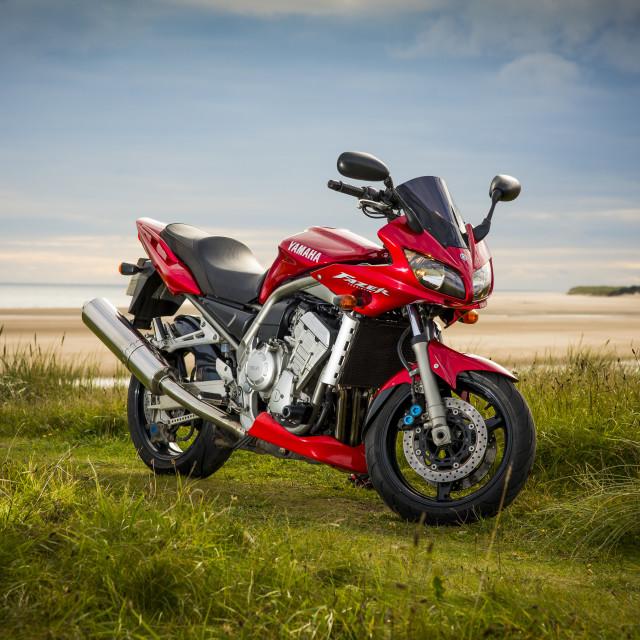 """Yamaha Fazer motorbike."" stock image"