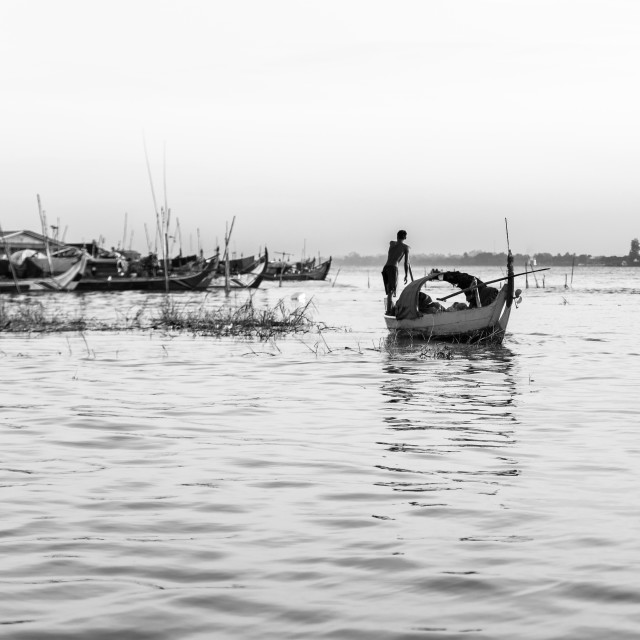 """Life in the Mekong river"" stock image"