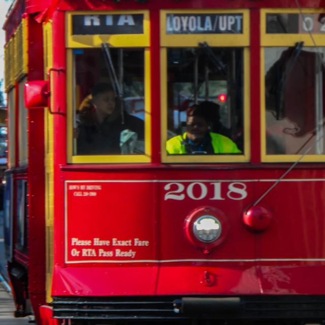 """New Orleans Streetcar"" stock image"