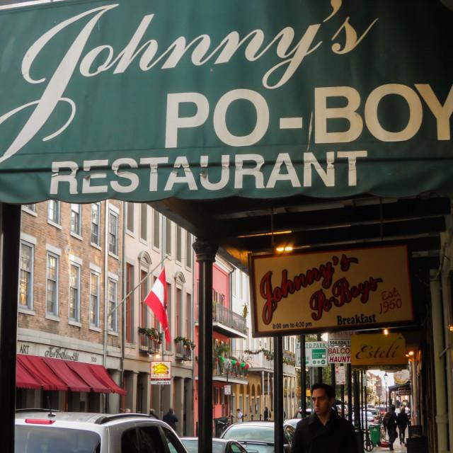 """""""Johnny's Po-Boy Restaurant"""" stock image"""