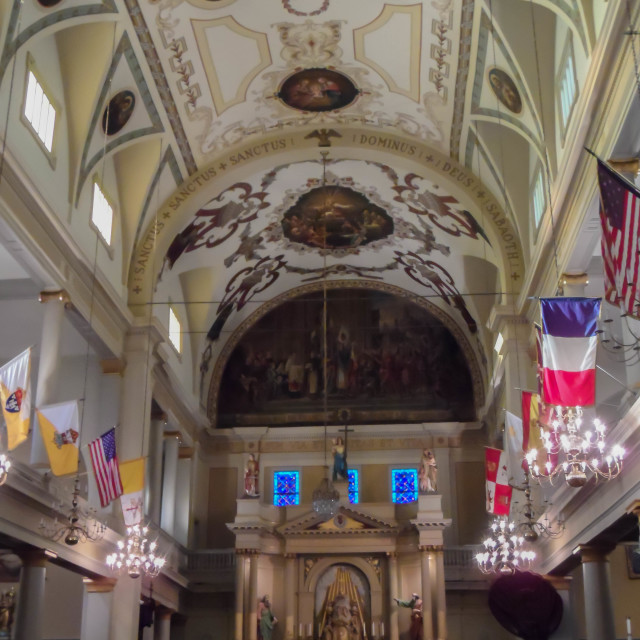"""Inside St. Louis Cathedral in New Orleans"" stock image"
