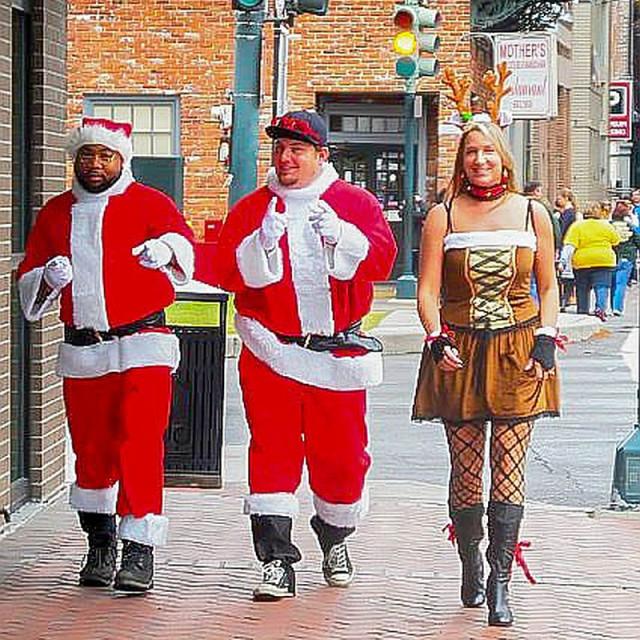 """Santa Run in New Orleans"" stock image"