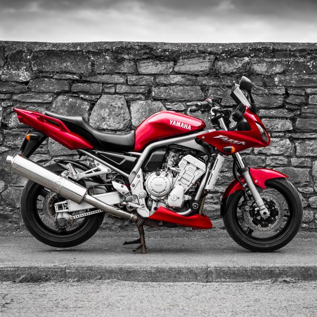 """Yamaha Fazer motor bike."" stock image"