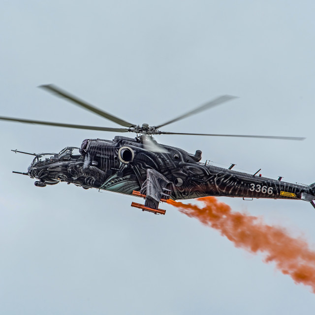 """""""Russian Attack Helicopter"""" stock image"""