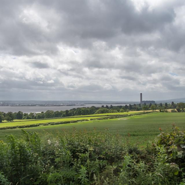 """""""Panorama near Edinburgh"""" stock image"""